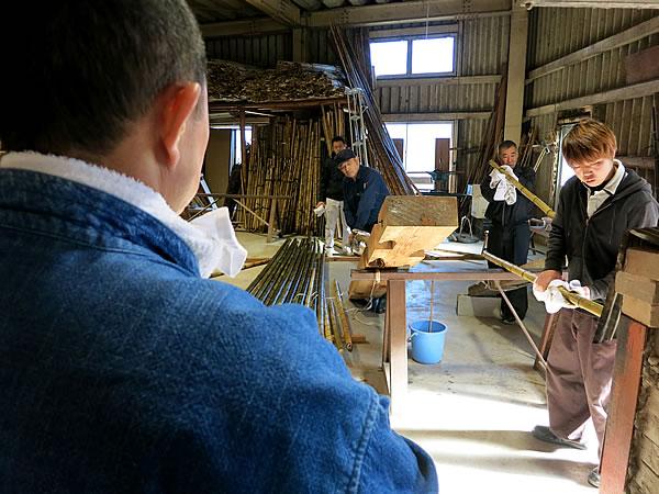 虎竹加工、製造