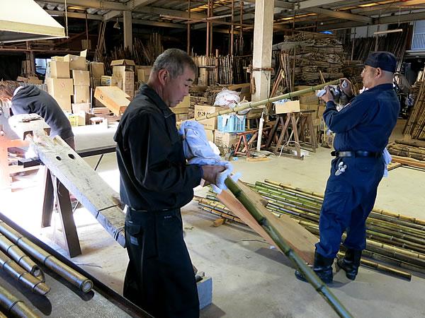 ヒロタリアンさん、虎竹製竹