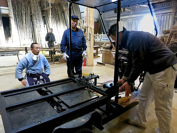 竹虎本社工場、日本唯一の虎竹自動車