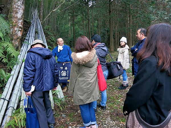 竹虎四代目(山岸義浩、YOSHIHIRO YAMAGISHI、TAKETORA)、虎竹の里山出し取材