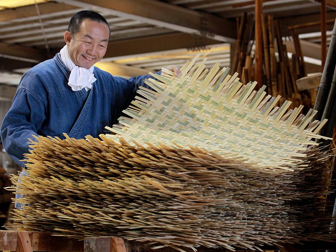 えびら竹編み素地