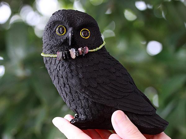 竹炭ペット(Bamboo charcoal Pet)フクロウ、福郎、不苦労