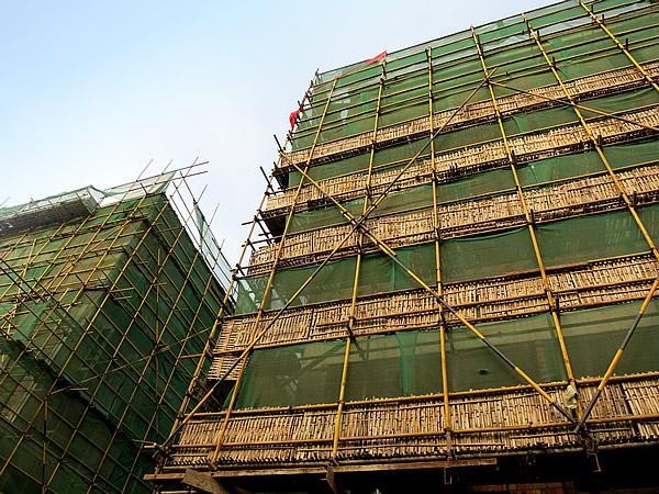 中国安吉県ビル工事現場