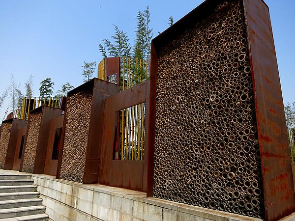 安吉県「中国竹子博覧園」の竹オブジェ