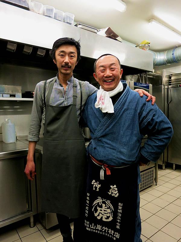レストランA.T、田中淳(Atsushi Tanaka)さんと竹虎四代目