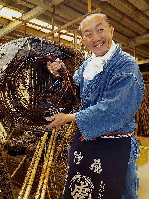 竹虎四代目(山岸義浩、YOSHIHIRO YAMAGISHI、TAKETORA)、染め籐