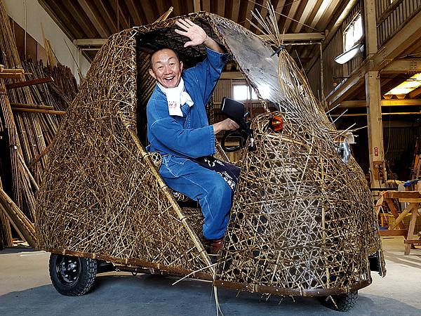 日本唯一の虎竹自動車(Tiger Bamboo car)