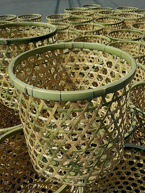 体育祭、竹製玉入れ籠