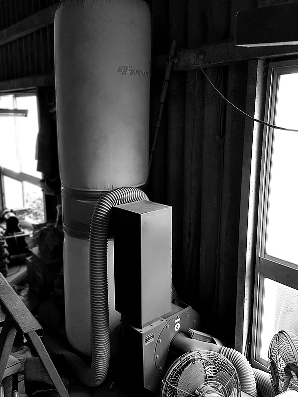 竹虎工場の吸引機