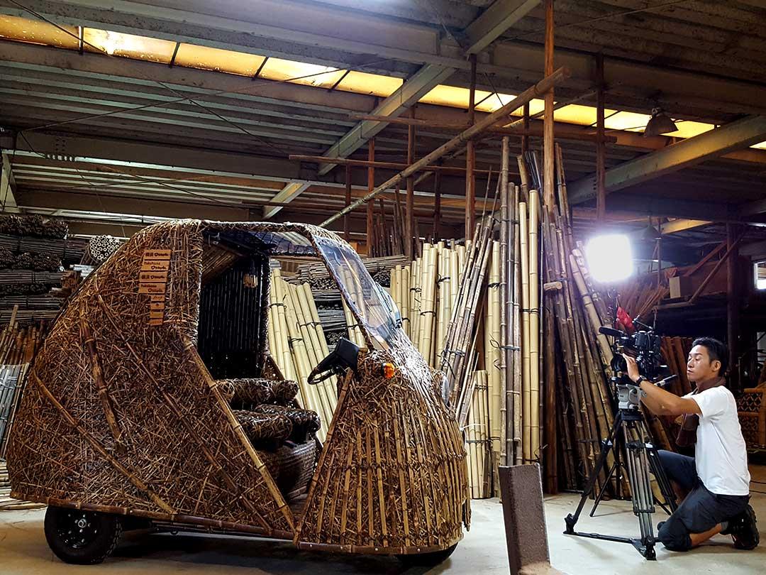 竹トラッカー NHK WORLD取材