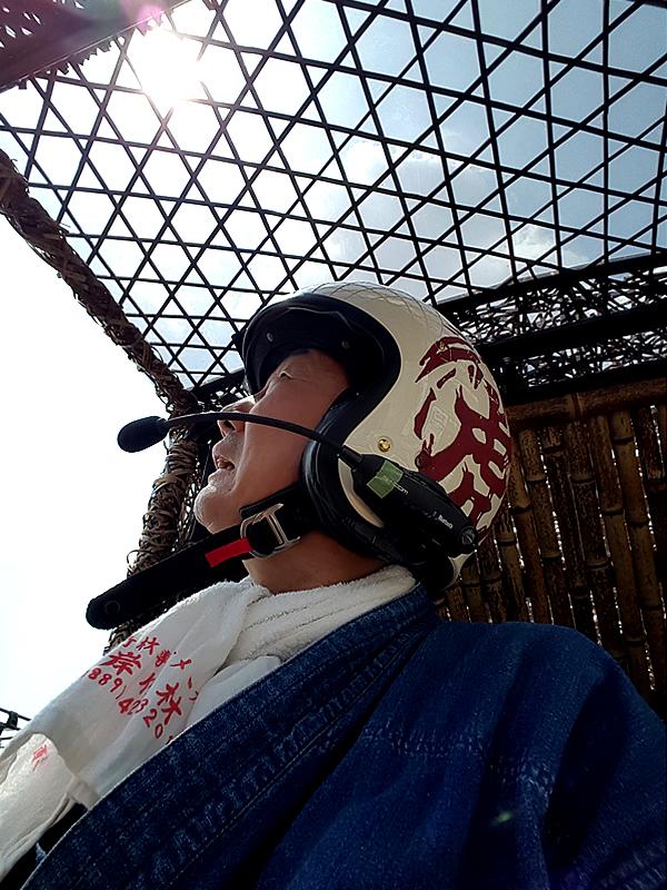 竹トラッカーの六ツ目編みサンルーフ