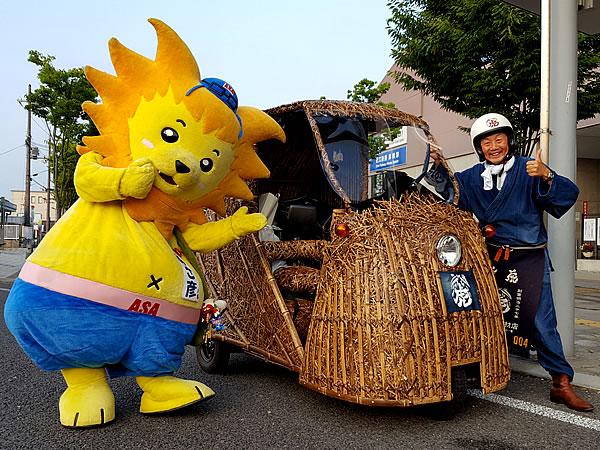 あさ彦くん、竹虎四代目(山岸義浩、YOSHIHIRO YAMAGISHI、TAKETORA)、竹トラッカー