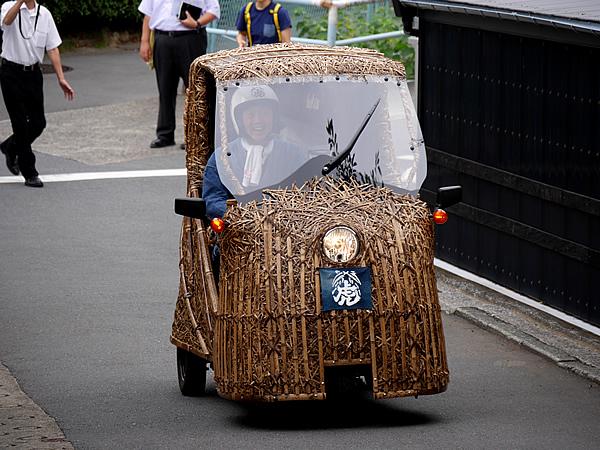 日本唯一の虎竹電気自動車、竹トラッカー