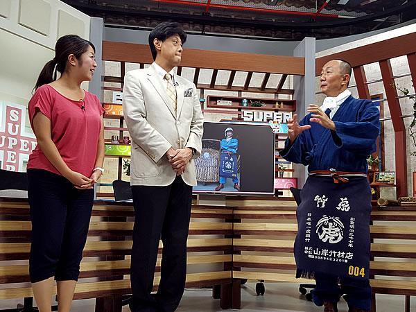 RKC高知放送テレビ「eye+スーパー」丸山修アナウンサー、高橋生アナウンサー、竹虎四代目