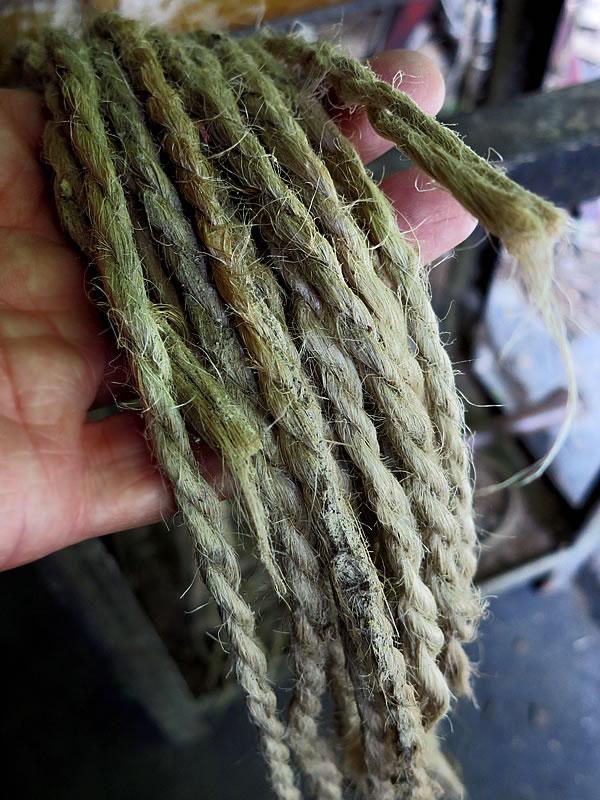 最高級竹炭竹材結束の麻紐