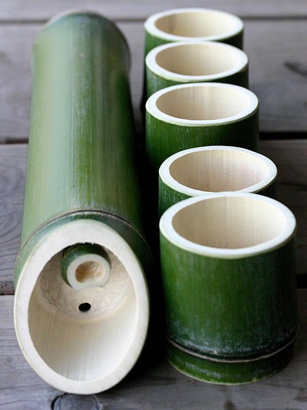 青竹(真竹)酒器セット