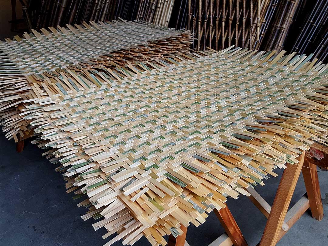 えびら(竹編み平かご)竹ひご