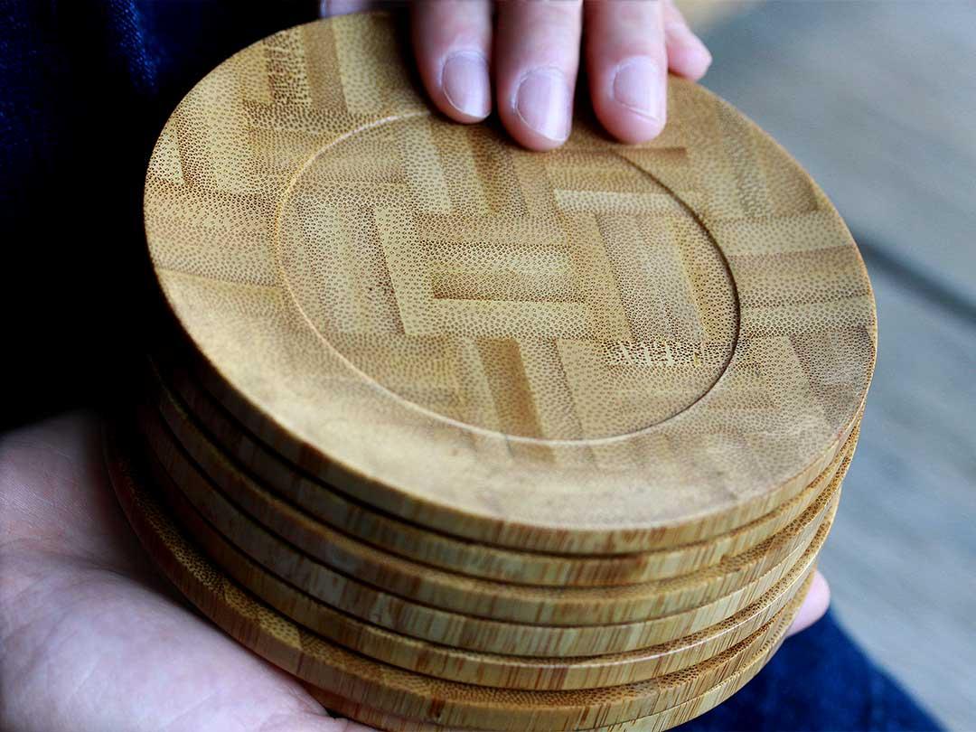 竹集成材茶托