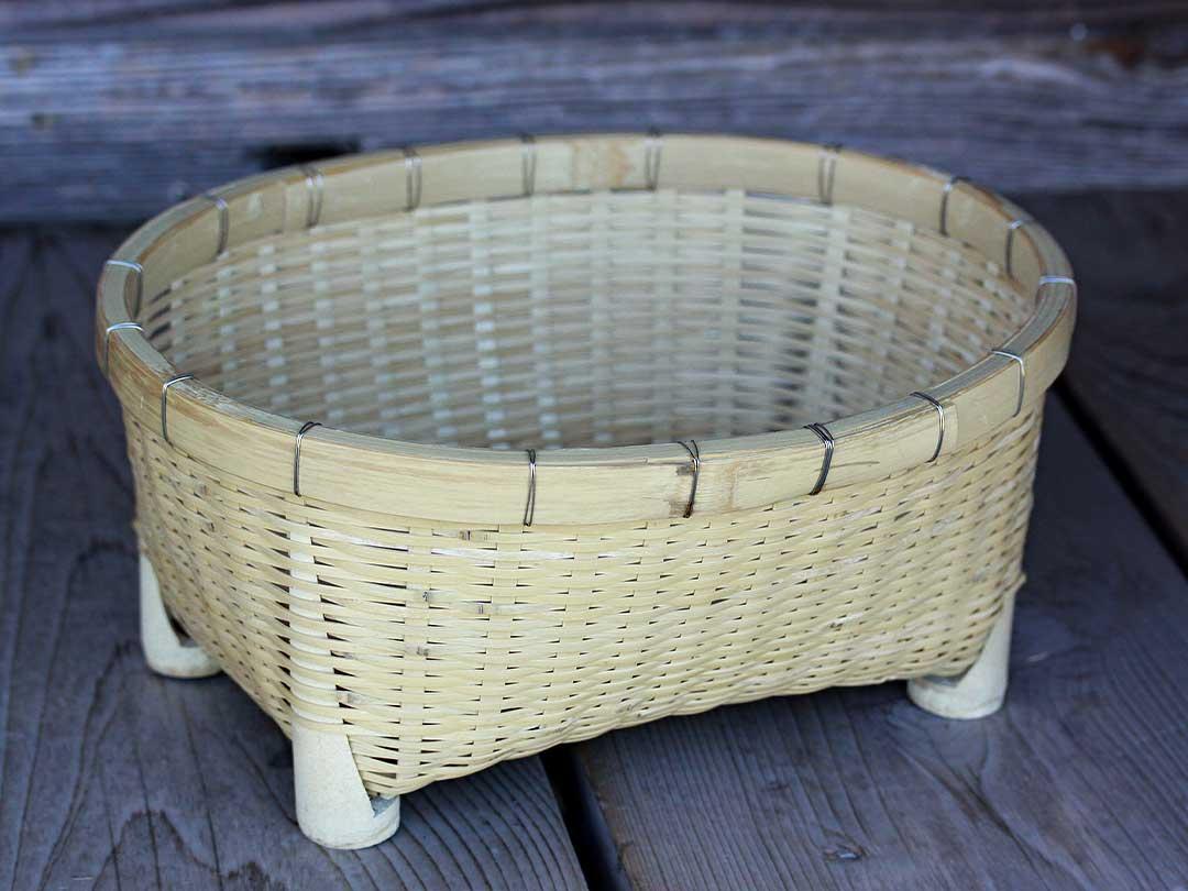 試作竹椀かご