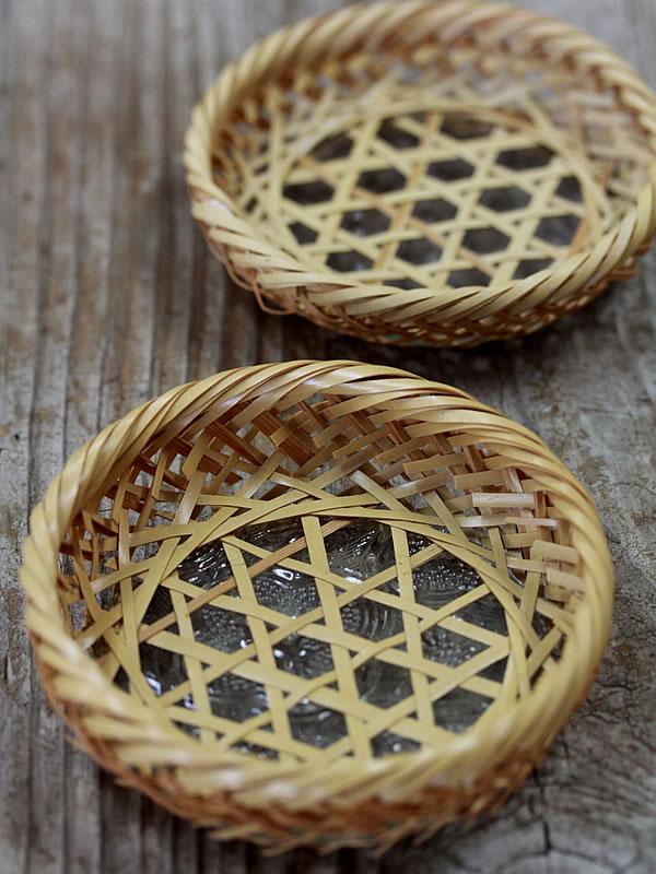 竹編み茶托
