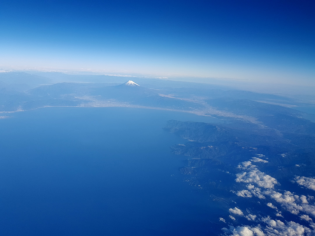 空からみた富士山