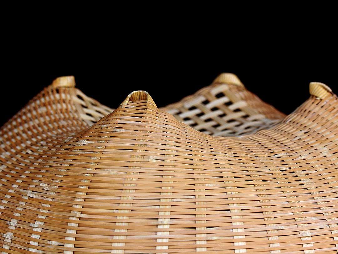 佐藤千明さんの竹籠