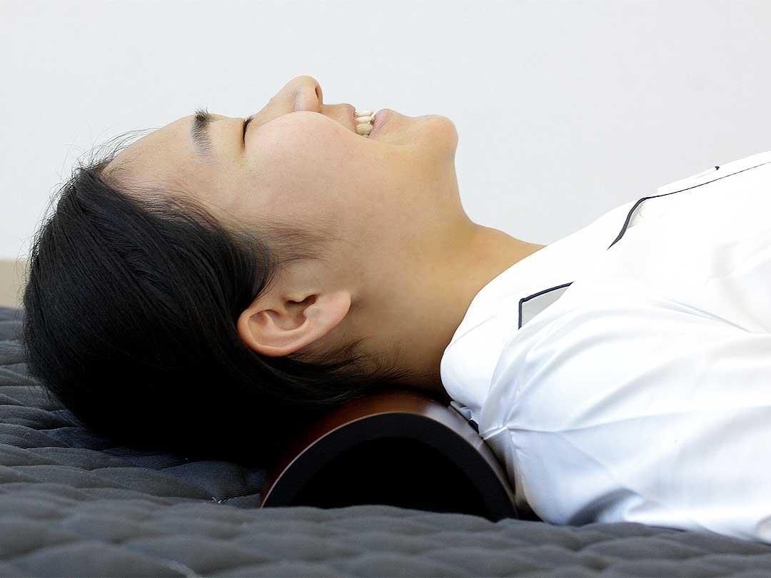 ストレートネック・スマホ首の竹首枕