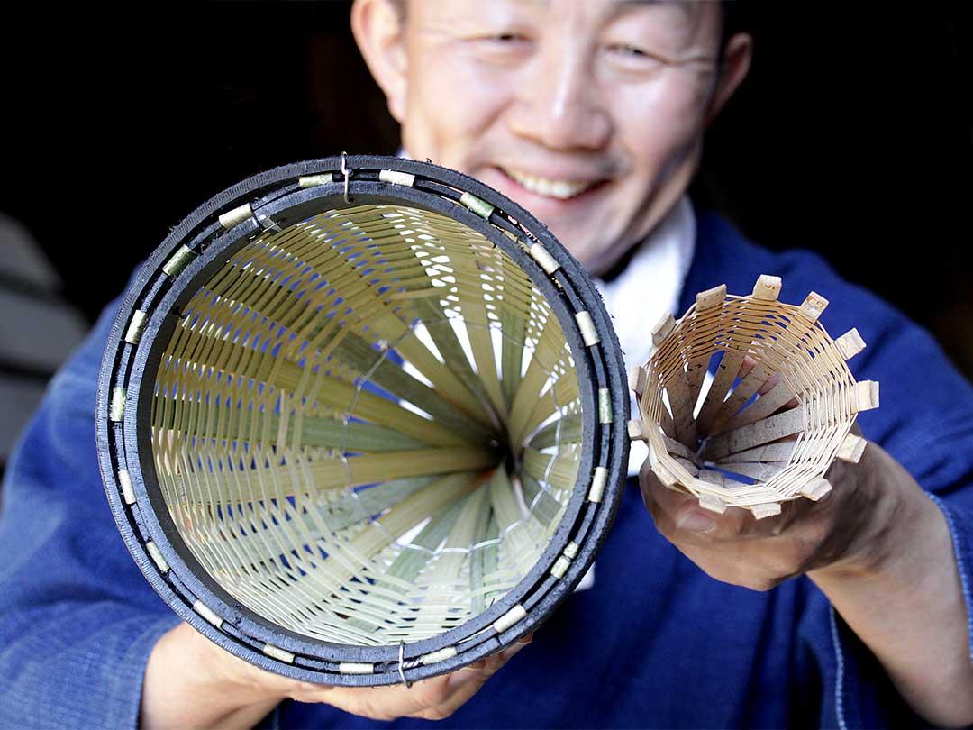 竹編みエギ入り口