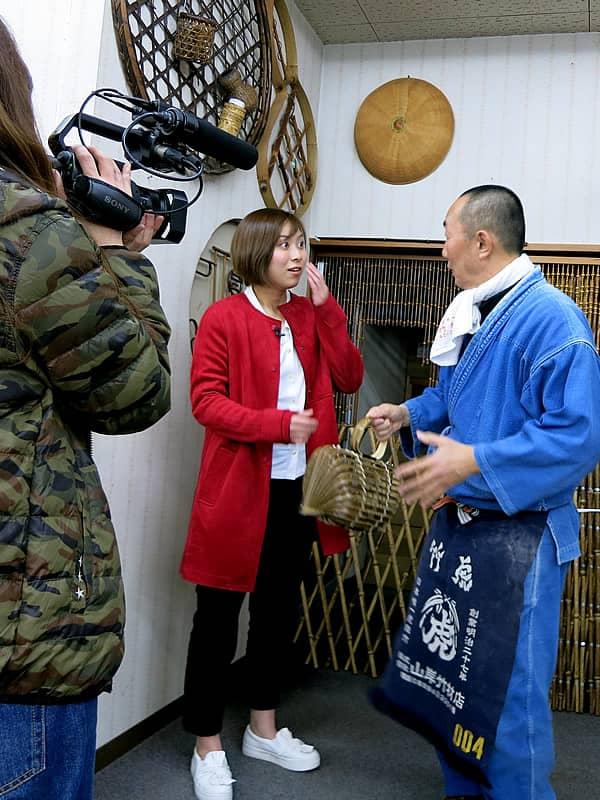 竹虎四代目(山岸義浩)、山本雪乃、テレビ朝日「羽鳥慎一モーニングショー」取材