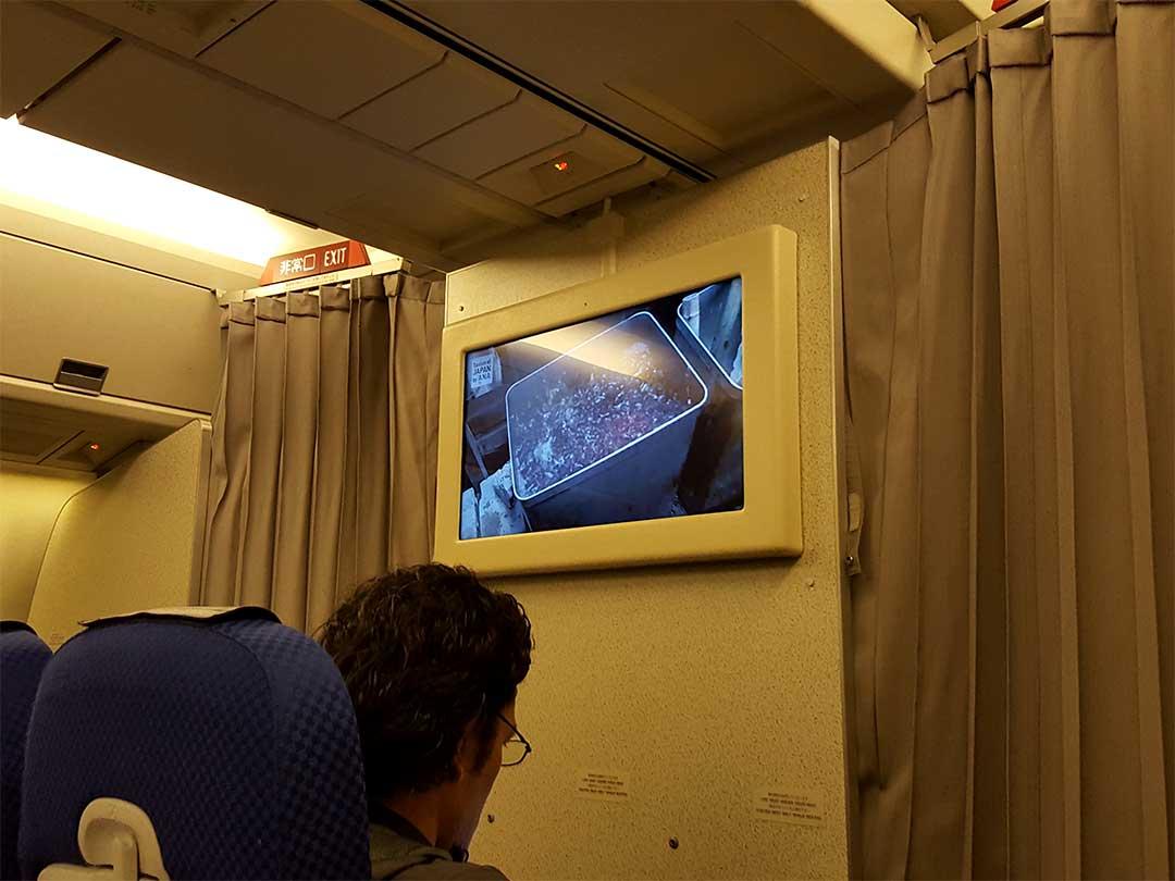 ANA機内テレビ