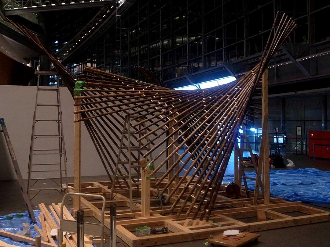 Installation kaguya「竹取物語」