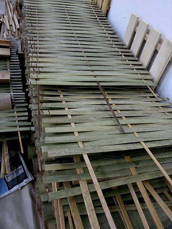 竹筬(たけおさ)竹材