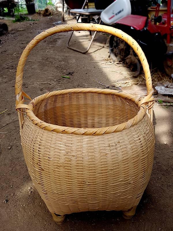 手付き竹籠