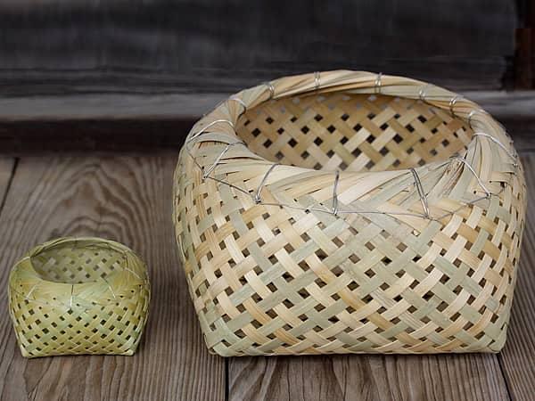 蓬莱竹小物籠、磯かご