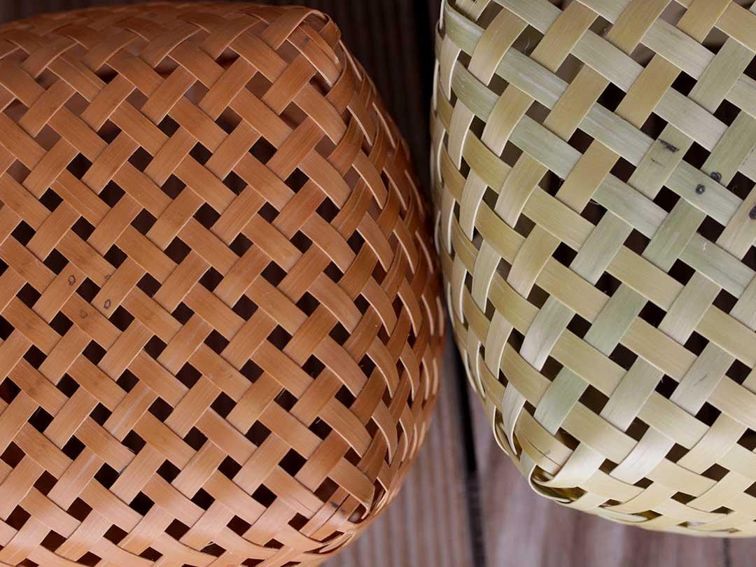 蓬莱竹ミニ小物籠