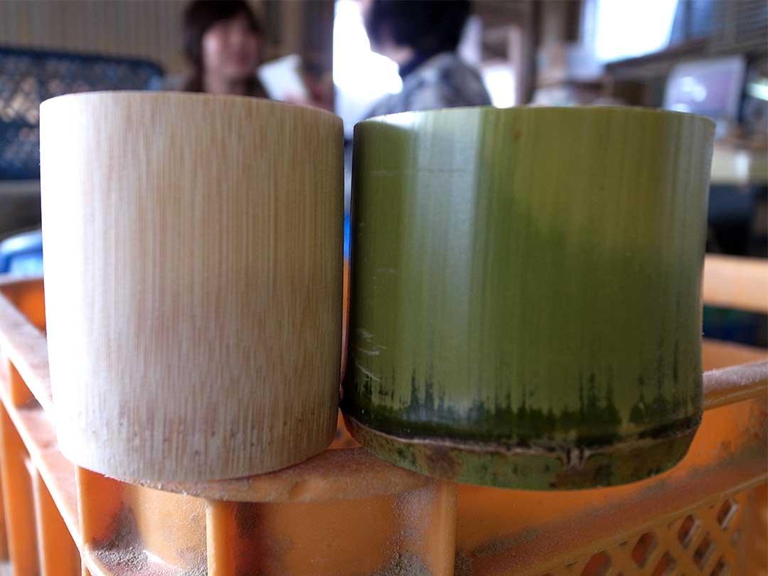 竹ぐい呑み、盃製造