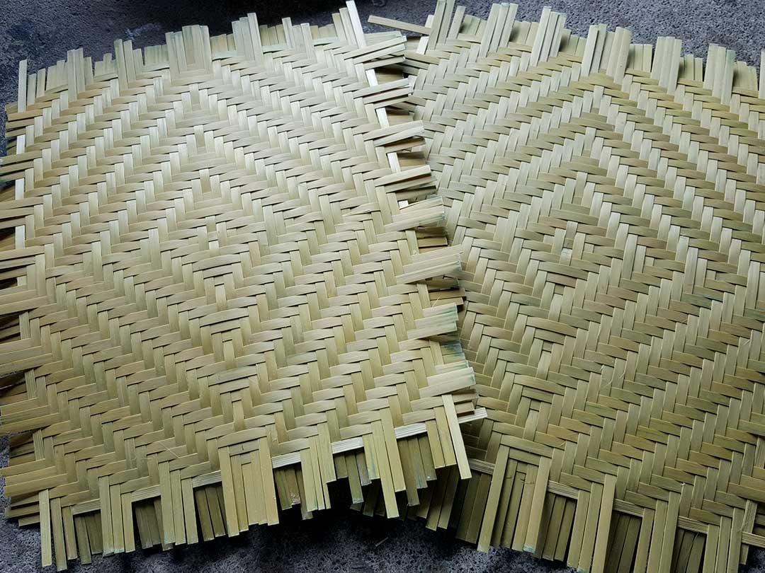 蓬莱竹(シンニョウチク)網代編み