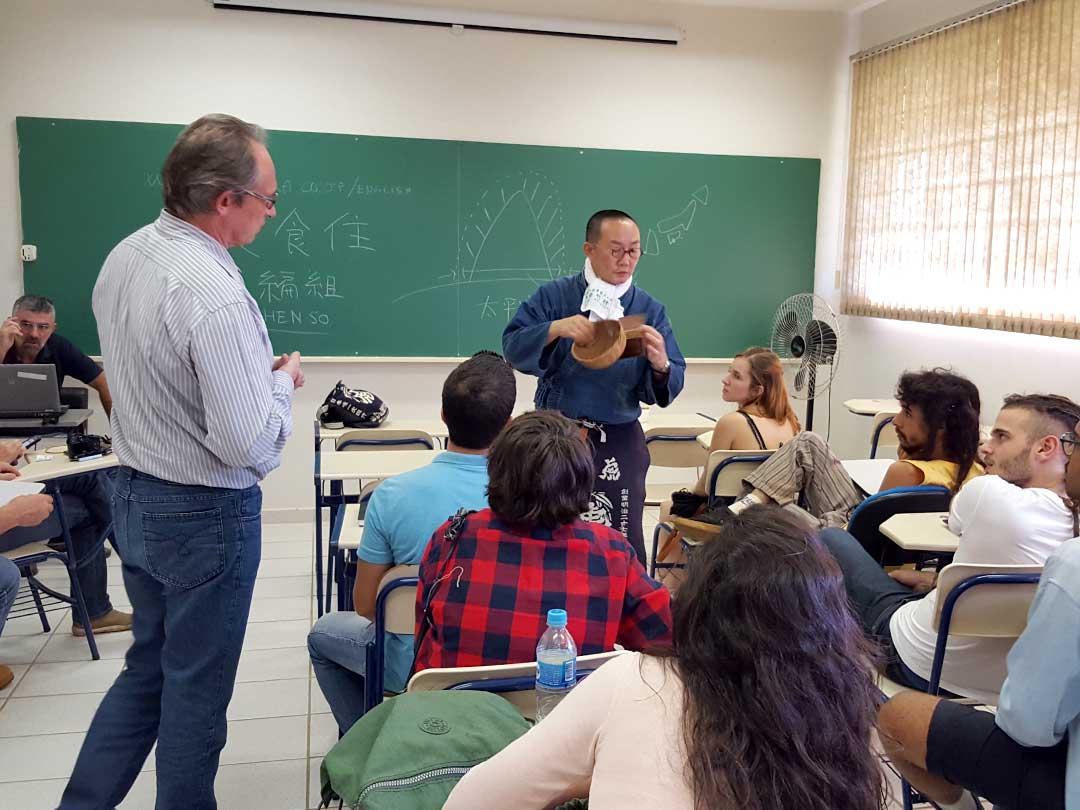 虎竹特別講義INサンパウロ州立パウリスタ大学
