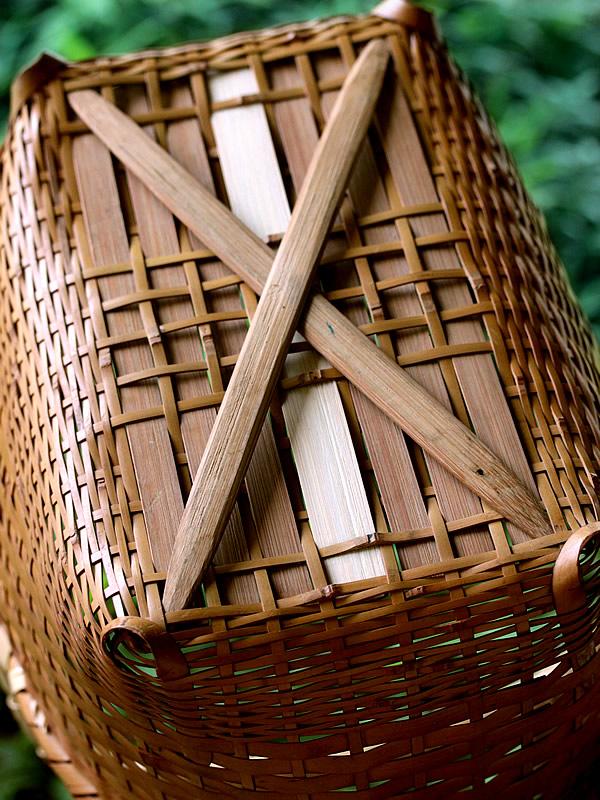 竹籠バック修理
