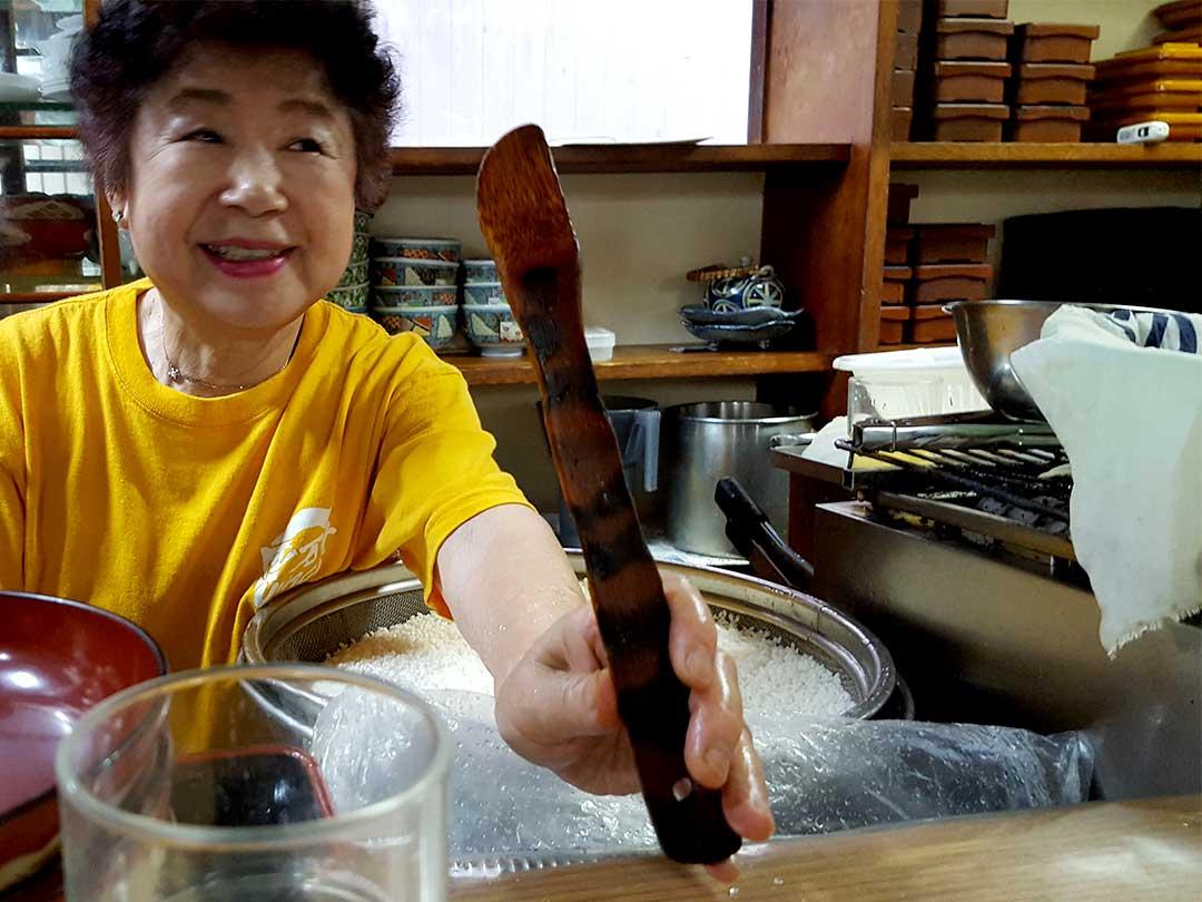 40年使った竹ターナー(竹ヘラ)