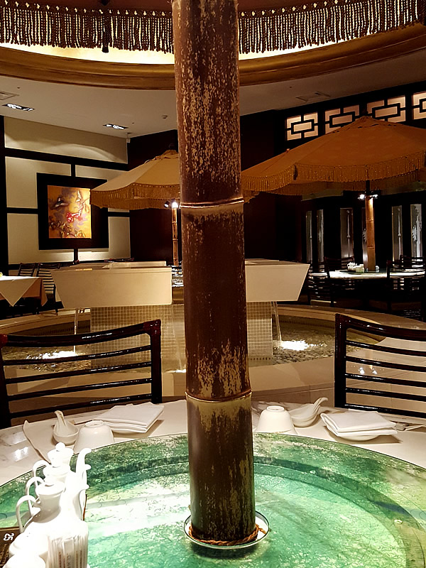 京王プラザホテル、中華料理「南園」の虎竹