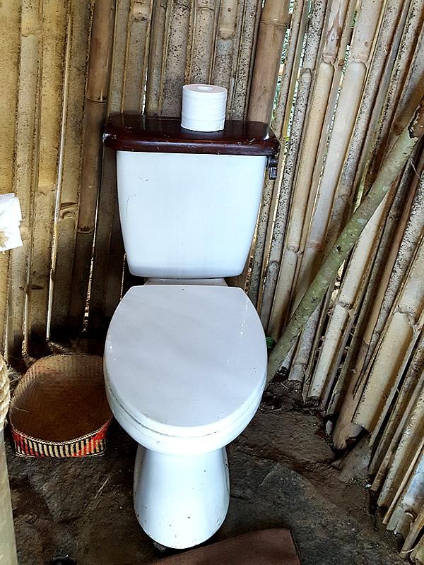 bambu indah、バンブードームトイレ