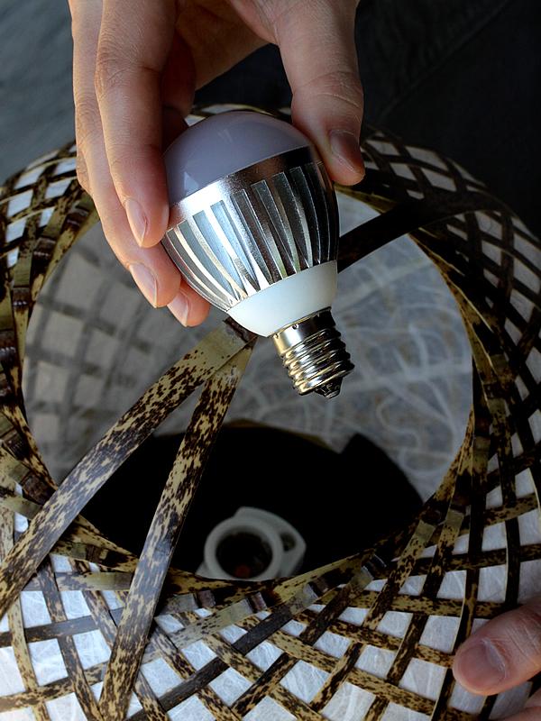 虎竹フロアライト(丸)LED電球