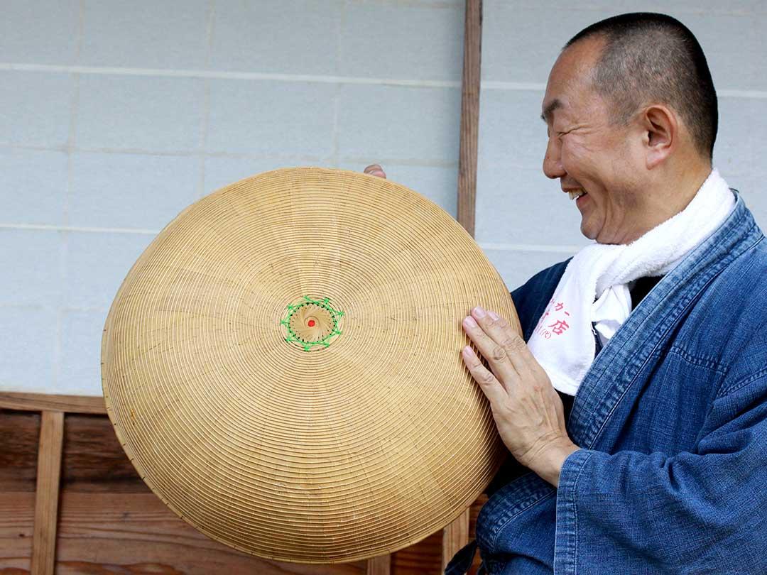 まんじゅう笠(竹の子笠)