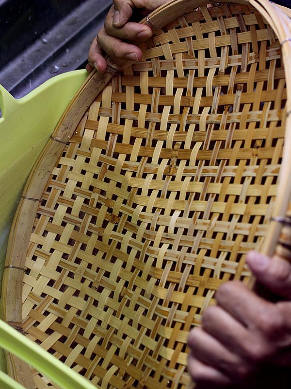 チビタケナガシンクイムシ、ヒラタキクイムシの竹材食害