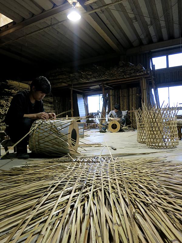 竹虎工場、玉入れ籠製造
