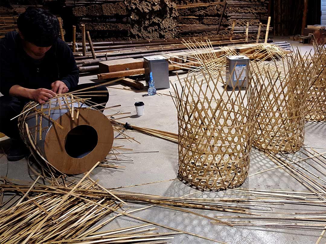 玉入れ籠編み
