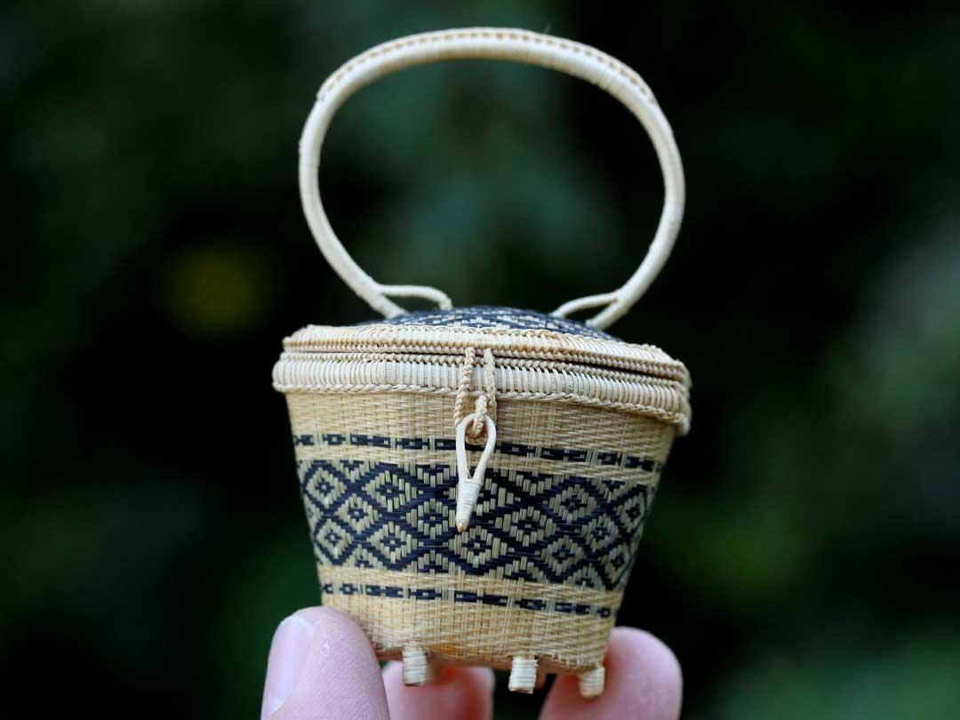 タイの竹籠