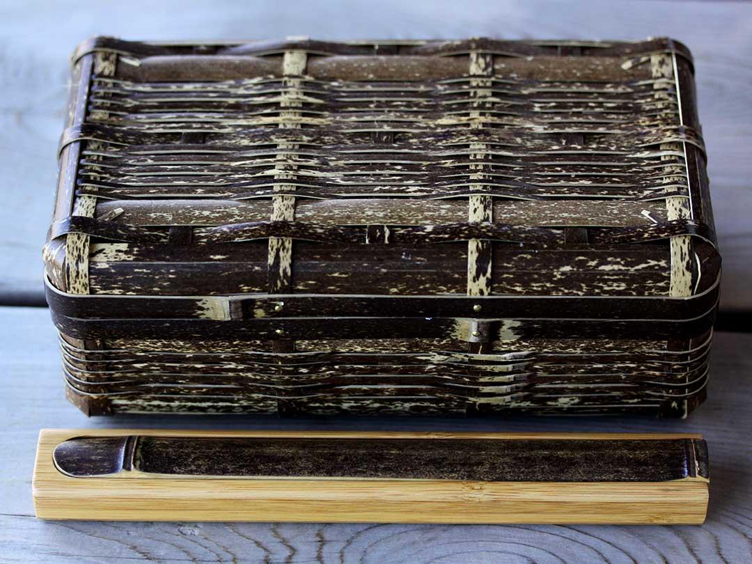 黒竹箸箱、虎竹ランチボックス
