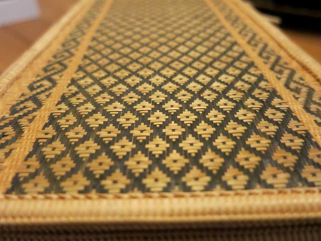 タイの細やかな竹編み